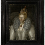 Artist unknown, but long attributed to the school of Marcus Gheeraerts the Younger (ca. 1561/62-1636). Elizabeth I (1533-1603), oil on oak panels, ca. 1593. Courtesy of the Elizabethan Gardens, Manteo, N.C. Courtesy of The Elizabethan Gardens, Ray Matthews; Photographer.