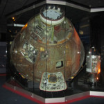 Apollo 13 Command Module in Kansas Cosmosphere and Space Center, Hutchinson, Kan. Image by HrAtsuo. This file is made available under the Creative Commons CC0 1.0 Universal Public Domain Dedication.