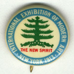 The first Armory Show button, 1913, from the Archives of American Art, Smithsonian Institution. Courtesy of Wikimedia Commons.