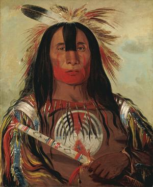 'Stu-mick-o-s˙cks, Buffalo Bulls Back Fat, Head Chief, Blood Tribe Blackfoot/Kainai,' by George Catlin, 1832. Copyright: Smithsonian American Art Museum.