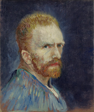 Vincent van Gogh (1853–1890), 'Self-Portrait,' c. 1887, oil on canvas, 15 5/8 x 13 1/4 inches. Collection of Wadsworth Atheneum Museum of Art, Hartford, Conn. Gift of Philip L. Goodwin in memory of his mother, Josephine S. Goodwin, 1954.189.