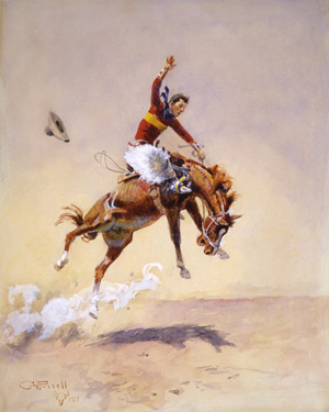 The watercolor 'High, Wide and Handsome' sold for $300,000 at the auction. Image courtesy C.M. Russell Museum.