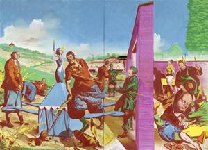 Neo Rauch Die Kontrolle, 2010, Öl auf Leinwand, 300 x 420 sm, private Sammlung / Basel mit freundlicher Genehmigung Galerie EIGEN + ART Leipzig/Berlin and David Zwirner, New York. Foto: Uwe Walter, Berlin.