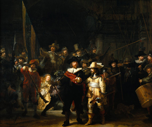 Rembrandt's 'The Night Watch,' 1642. Image courtesy Wikimedia Commons.