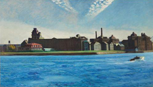 Edward Hopper, 'Blackwell's Island,' 1928, oil on canvas, 35 x 60 inches. Estimate: $15 million - $20 million. Image courtesy Christie's.
