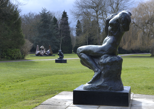 Auguste Rodin, 'Cybele,' large model 1905 with other sculptures in the gardens at Perry Green. Photo: Mike Bruce. By permission of the Henry Moore Foundation / Musée Rodin, Paris.