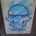Matt Siren's stenciled skull on a storefront on Avenue B near East Third Street in New York. Image by Ilana Novick.