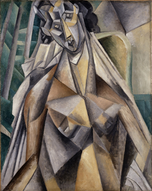 Pablo Picasso, 'Nu dans un fauteuil (Nude Woman in an Armchair),' summer 1909, oil on canvas, 36 1/4 x 28 3/4 in. Leonard A. Lauder Cubist Collection; © 2013 Estate of Pablo Picasso/Artists Rights Society (ARS), New York.
