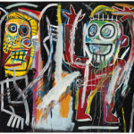 Jean-Michel Basquiat (1960-1988), 'Dustheads,' acrylic, oilstick, spray enamel and metallic paint on canvas 72 x 84 in. (182.8 x 213.3 cm.). Painted in 1982. Estimate: $25-35 million. Christie's image.