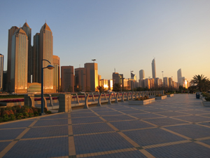 The Abu Dhabi skyline. Image by FritzDaCat. This file is licensed under the Creative Commons Attribution-Share Alike 3.0 Unported license.