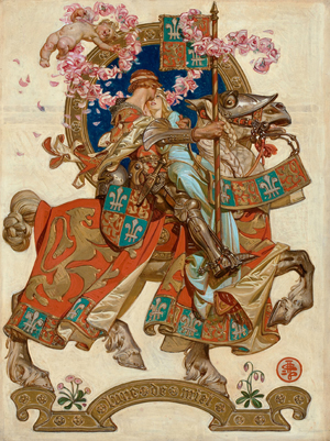 Joseph Christian Leyendecker (American, 1874-1951), 'Honeymoon,' 'The Saturday Evening Post' cover, July 17, 1926, oil on canvas. Heritage Auctions image.