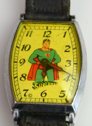 1948 New Haven 'Superman' wristwatch, which will be sold by Saucon Valley Auction on May 4. Image by Saucon Valley Auction and LiveAuctioneers.com.