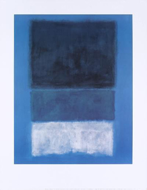 Mark Rothko 'No. 14 White and Greens in Blue' lithograph poster. Image courtesy of LiveAuctioneers.com and UniversalLive.