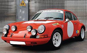 Newly rebuilt, this Porsche 911 S/ST has a July 1970 registration date. Estimate: 100,000-200,000 euros. Automobilia Auktion Ladenburg image.