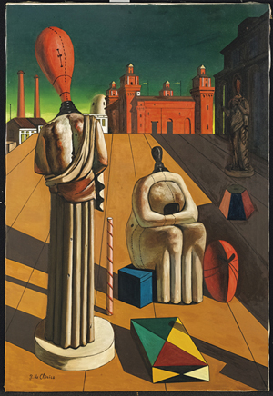 Giorgio de Chirico, 'Le muse inquietanti,' 1960, oil on canvas, cm 97,3 x 65,7. Stima: €400.000-600.000, venduto per: €568.200 / £485.242 / $744.910. Courtesy Christie's Images Ltd.