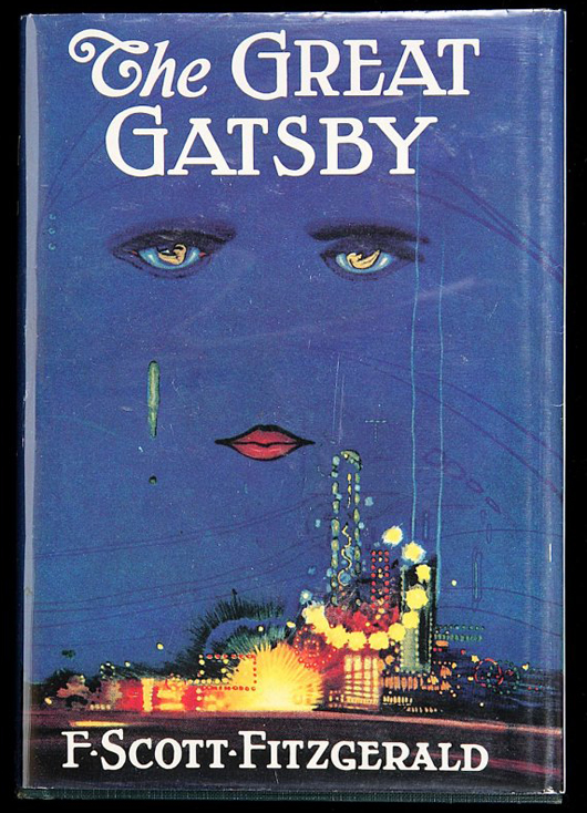 A first edition, first issue, of F. Scott Fitzgerald's 'The Great Gatsby.' Image courtesy of LiveAuctioneers.com Archive and PBA Galleries.