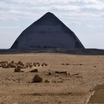 Snofru's Bent Pyramid lies just beyond the disputed cemetery. Image by Michael Hoefner. This file is licensed under the Creative Commons Attribution-Share Alike 2.5 Generic license.