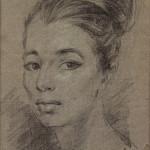 Christine Keeler by Stephen Ward, pastel, 1961.Copyright: National Portrait Gallery, London.
