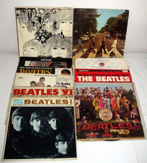 Collection of vintage Beatles albums. Image courtesy of LiveAuctioneers.com Archive and Specialists of the South Inc.Collection of vintage Beatles albums. Image courtesy of LiveAuctioneers.com Archive and Specialists of the South Inc.