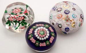 From the Lorraine Galinsky collection of antique and modern paperweights including Baccarat and Clichy examples ex-collection of the New-York Historical Society. Jeffrey S. Evans & Associates image.