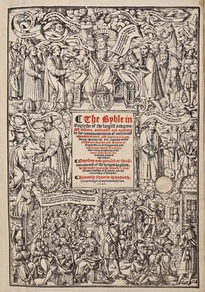 1541 English Great Bible (estimate $5,000-$7,000). Cordier Auctions & Appraisals image.