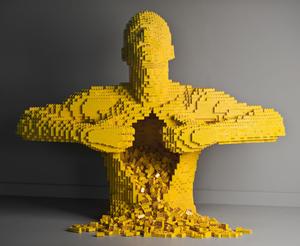 'Yellow' by Nathan Sawaya. (PRNewsFoto/Discovery Times Square)