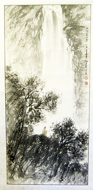 Scroll painting signed by Fu Baoshi (Chinese, 1904-1965). Est. $700-$1,000. Imperial Auctioneers image.