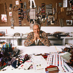 Ottavio Missoni photographed in 1990 by Giuseppe Pino. Image provided by family Missoni - Missoni spa, Wikimedia Commons.
