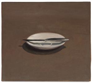 Vija Celmins, 'Untitled (Knife and Dish),' 1964. Estimate: $300,000 – 500,000. Los Angeles Modern Auctions image.