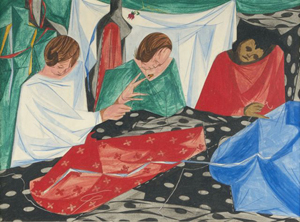 Jacob Lawrence (1917-2000) 'Seamstresses,' 1954, Tempera on board. Gray's Auctioneers image.