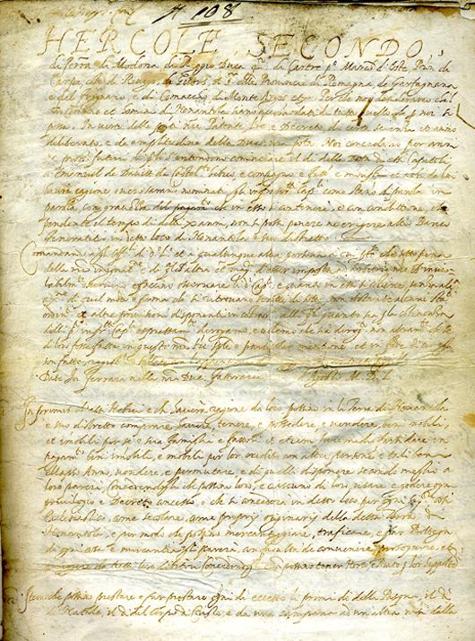 Manuscript on parchment concerning rights of Jews in Ferrara, 1550. Kedem Auction House Ltd. image.