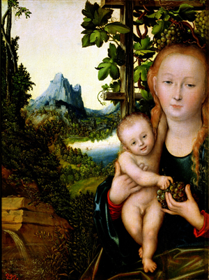 'Madonna and Child' by Lucas Cranach the Elder (1472-1553), circa 1520, is one of the paintings Poland wants returned. It is now at the Pushkin Museum of Fine Art, Moscow. Image courtesy of Wikimedia Commons.