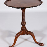 18th century Chippendale tilt-top table with pie-crust edge. Price realized: $11,000. Kaminski Auctions image.
