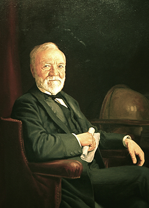 Andrew Carnegie as he appears in the National Portrait Gallery in Washington, D.C. Image by Billy Hathorn, courtesy of Wikimedia Commons.