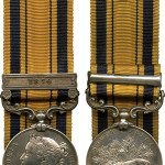 Rare South Africa 1879 Casualty Medal awarded to Trooper Francis 'Louis' Secretan. Dreweatts London / Baldwin's image.