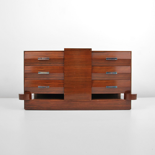 Alfred porteneuve french 1896 1949 fine and rare art deco rosewood with