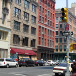 Manhattan's Tribeca neighborhood. Image by AudeVivere. This file is licensed under the Creative Commons Attribution-Share Alike 2.5 Generic license.