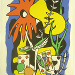 Fernand Leger, 'King of Hearts with Flowers,' lithograph, 29 x 21inches. Arthaz Inc. image.