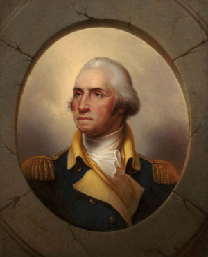 Rembrandt Peale (American, 1778-1860), 'George Washington,' circa 1856, oil on canvas, 361/2 x 29 inches. Price realized: $662,500. Heritage Auctions image.