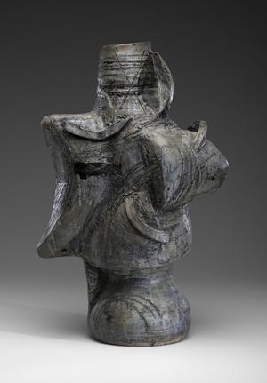Peter Voulkos, untitled sculpture, 1957, realized $39,000. Cowan's Auctions Inc.