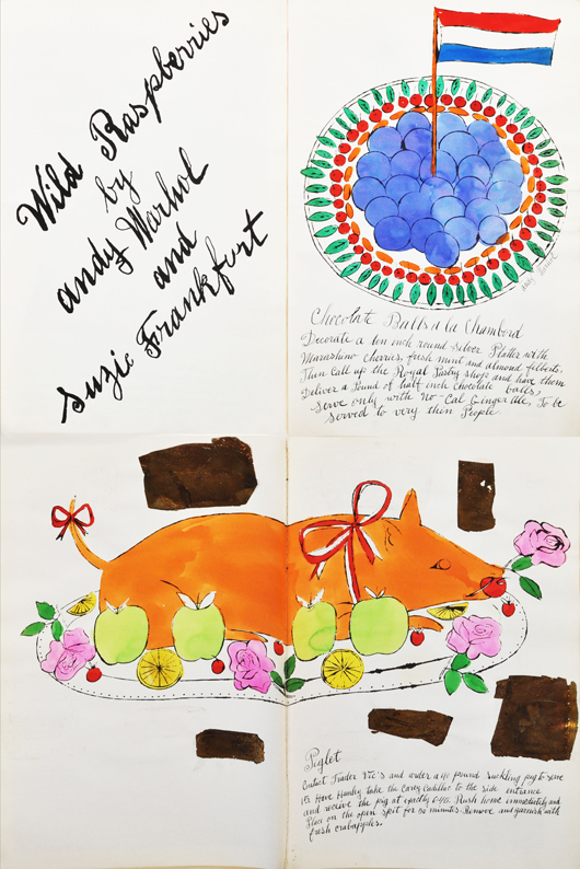 Andy Warhol 'Wild Raspberries' folio. Woodbury Auction image.