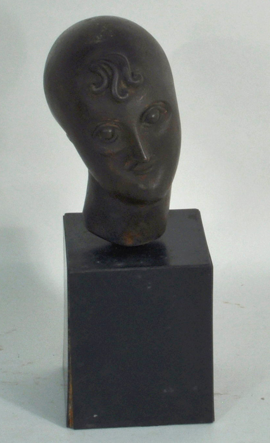 Elie Nadelman, 'Portrait Bust.' Woodbury Auction image.