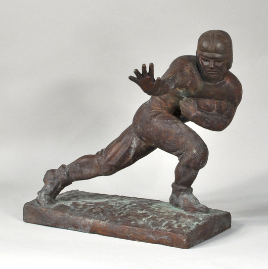 Heisman bronze model. Woodbury Auction image.