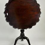 George III mahogany piecrust table. Woodbury Auction image.