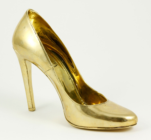 Angel Chen, 'Bronze Shoe (Prada),' bronze. Kaminski Auctions image.
