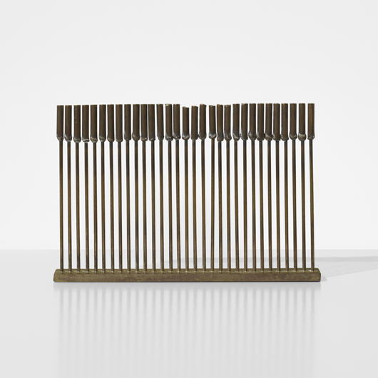 Harry Bertoia, Untitled (Sonambient). Estimate: $7,000-9,000. Wright image.