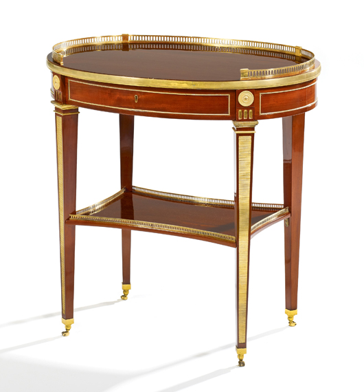Los 1080, welchen bei Van Ham für Aufregung sorgte, war nicht, wie zuerst angenommen, ein David Röntgen aus dem 18. Jahrhundert, sondern die Fälschung eines heutigen Tischlers. Foto mit freundlicher Genehmigung von Van Ham.