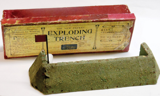 Britains 'Exploding Trench.' Old Toy Soldier Auctions image.