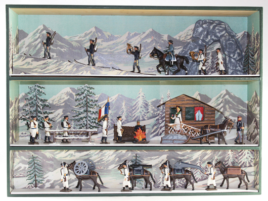 Mignot Alpine Diorama. Old Toy Soldier Auctions image.