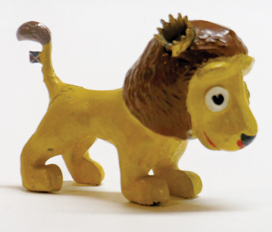 Rare 1937 Coronation 'Rex' lion mascot. Old Toy Soldier Auctions image.